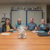 Bestuur supportersvereniging v.l.n.r.: Marco Jan Dekker, Grietje Zwiep, Ab Groen, Jimmy Zwiep, Gerard Zwiers en Geert van Boven.