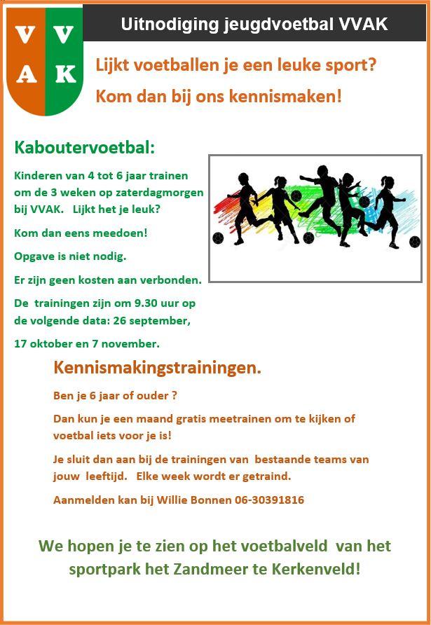 Uitnodiging jeugdvoetbal